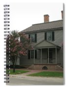 Clapboard House Colonial Williamsburg Spiral Notebook