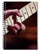 Clapton Playing Guitar - Watercolor Painting Spiral Notebook