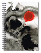 Clarity - Black And White Art Red Painting Spiral Notebook