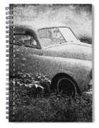 Clasic Car - Pen And Ink Effect Spiral Notebook