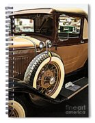 Classic 1928 Ford Model A Sport Coupe Convertible Automobile Car Spiral Notebook