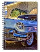 Classic Blue Caddy At Night Spiral Notebook