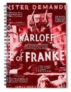 Classic Bride Of Frankenstein Poster Spiral Notebook