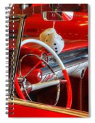 Classic Cadillac Beauty In Red Spiral Notebook