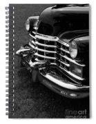 Classic Cadillac Sedan Black And White Spiral Notebook