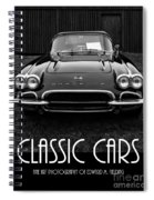 Classic Cars Front Cover Spiral Notebook