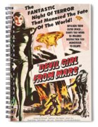 Classic Devil Girl From Mars Poster Spiral Notebook