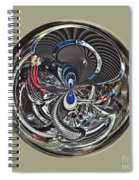 Classic Engine Orb Abstract Spiral Notebook