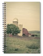 Classic Farm With Red Barn And Silos Spiral Notebook