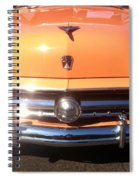 Classic Ford Car Hood Peach Spiral Notebook