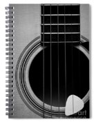 Classic Guitar In Black And White Spiral Notebook