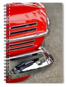 Classic Impala In Red Spiral Notebook