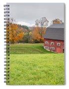 Classic New England Fall Farm Scene Spiral Notebook