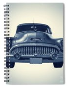 Classic Old Car On Vintage Background Spiral Notebook