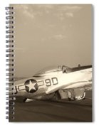 Classic P-51 Mustang Fighter Plane Spiral Notebook