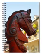 Classic Red Horsehead Post Spiral Notebook