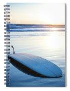 Classic Single-fin Long Board Surfboard Spiral Notebook