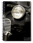Classic Vintage Car Black And White Spiral Notebook
