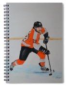 Claude Giroux Philadelphia Flyer Spiral Notebook