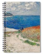 Claude Monet's Path In The Wheat Fields At Pourville-1882 Spiral Notebook