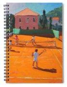 Clay Court Tennis Spiral Notebook