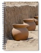 Clay Pots At Huaca Pucllana In Lima Peru Spiral Notebook