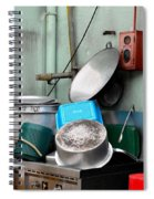 Clean Pots And Pans On Outdoor Sink Spiral Notebook