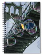 Cleaning The Bridge With Bubbles Spiral Notebook