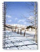 Clear Blue Silence Spiral Notebook