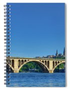 Clear Blue Skies At Key Bridge Spiral Notebook