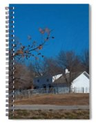Clear Blue Sky - Oil On Canvas Spiral Notebook