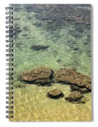 Clear Indian Ocean Water With Rocks At Galle Sri Lanka Spiral Notebook