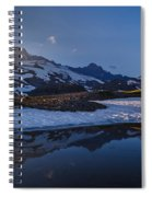 Clear Water Rainier Reflection Spiral Notebook