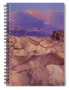 Clearing Sunrise Storm Zabriske Point Death Valley National Park California Spiral Notebook