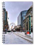 Clearing The Way...downtown Buffalo Ny 2014 Spiral Notebook