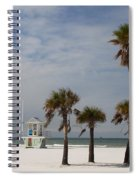 Clearwater Beach In Wintertime Spiral Notebook