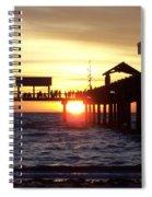 Clearwater Beach Pier Spiral Notebook