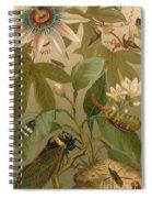 Clematis Cicada And Beetles 1894 Spiral Notebook