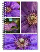 Clematis Collage Spiral Notebook