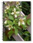 Clematis Grace Spiral Notebook