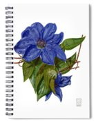 Clematis Spiral Notebook