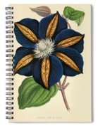 Clematis Star Of India Spiral Notebook
