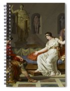 Cleopatra And Octavian Spiral Notebook