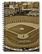 Cleveland Baseball In Sepia Spiral Notebook