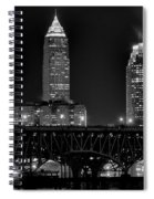 Cleveland Black And White Night Spiral Notebook