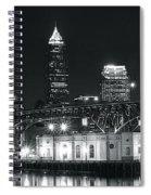 Cleveland Black Night Spiral Notebook