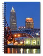 Cleveland Blue Hour Panoramic Spiral Notebook
