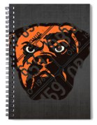 Cleveland Browns Football Team Retro Logo Ohio License Plate Art Spiral Notebook