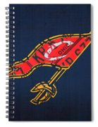 Cleveland Cavaliers Nba Team Retro Logo Vintage Recycled License Plate Art Spiral Notebook