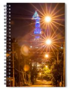 Cleveland Downtown Street View At Night Spiral Notebook